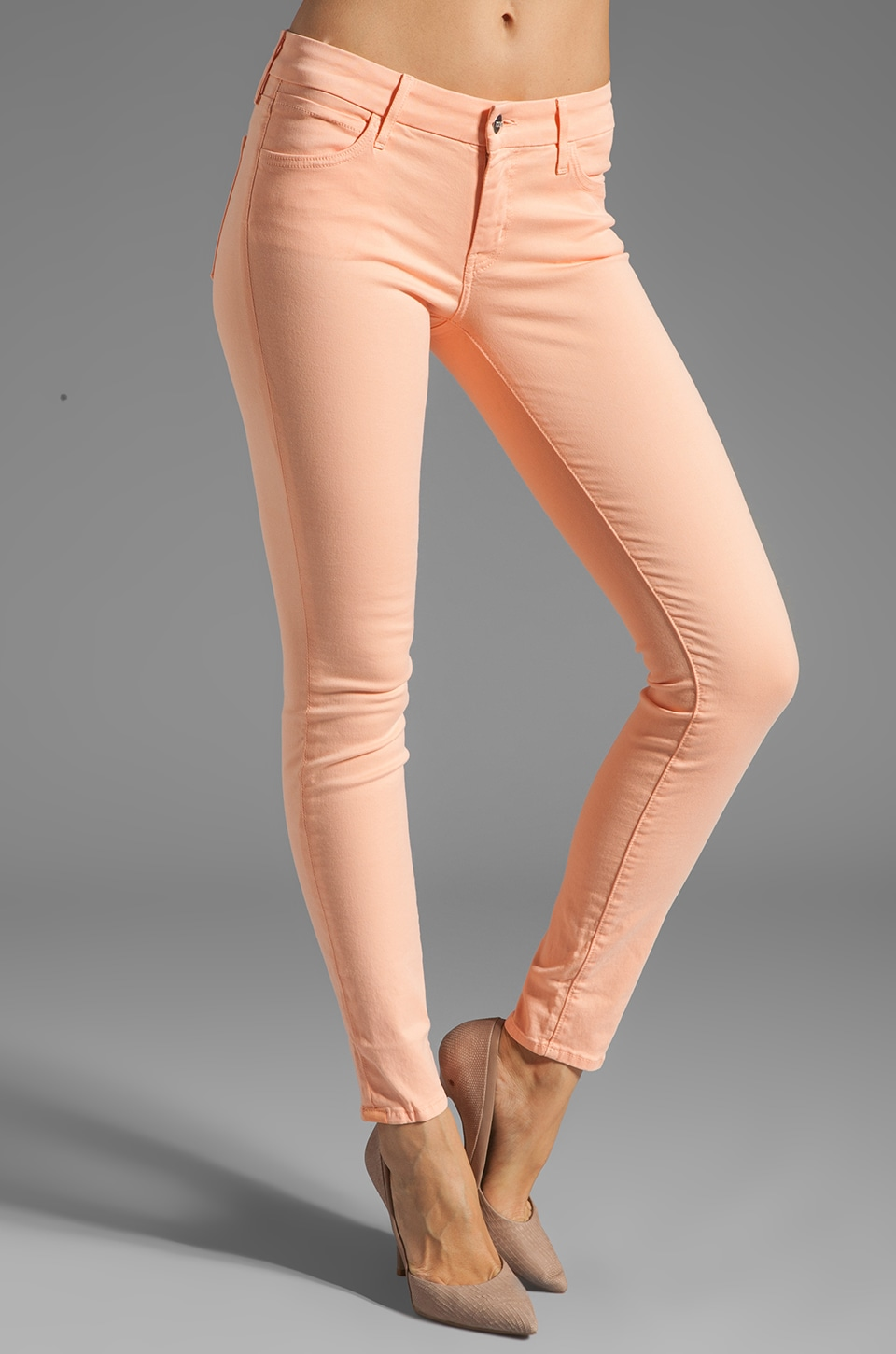 Koral Denim Pastel Skinny in Peach
