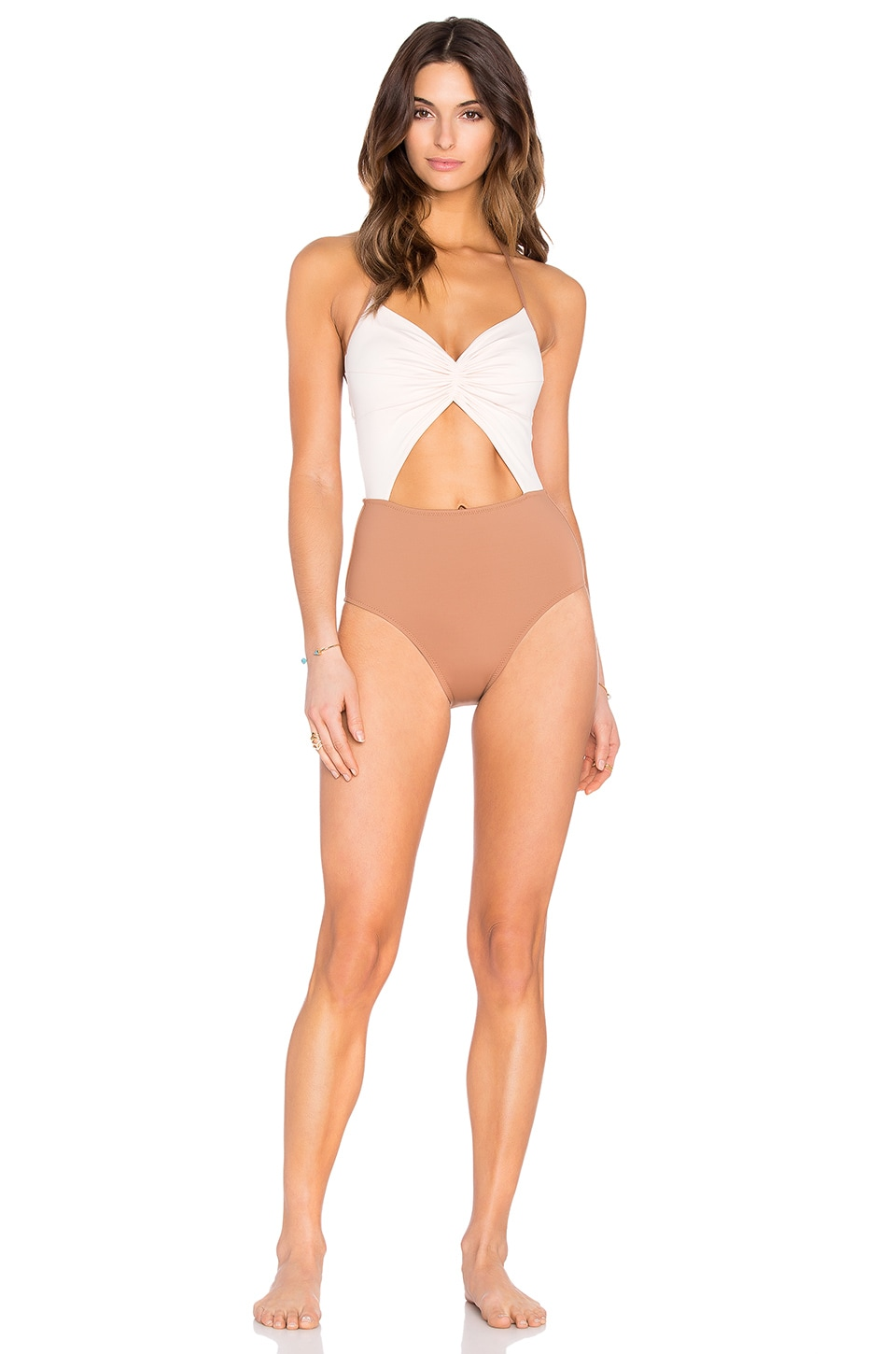 KORE SWIM Flora Clay One Piece in Crema & Clay