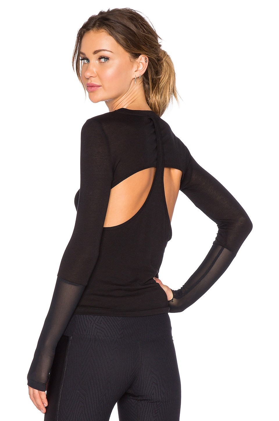 KORAL Chu Fission Long Sleeve Top in Black