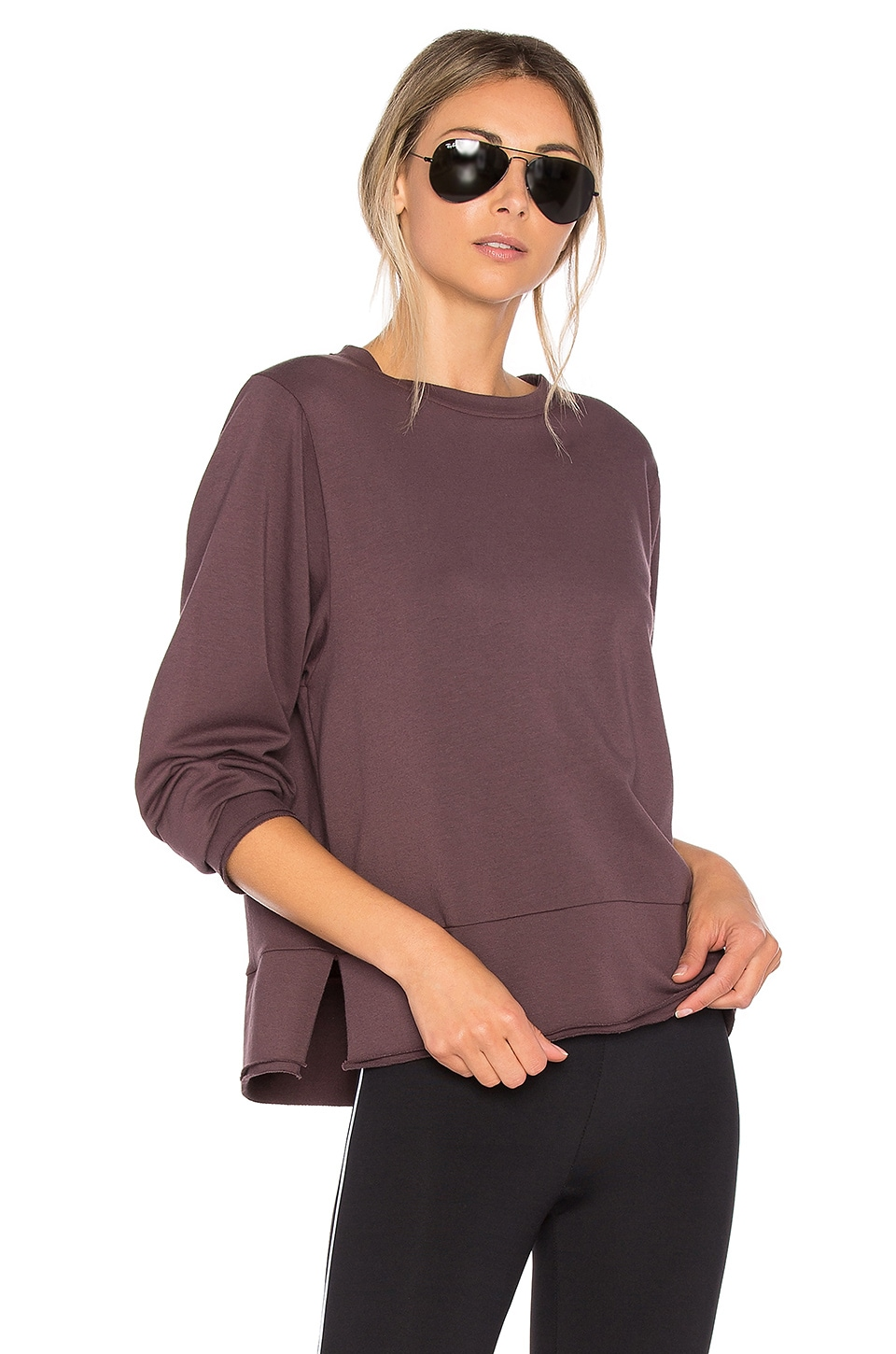 KORAL Global Sweatshirt in Bordeaux