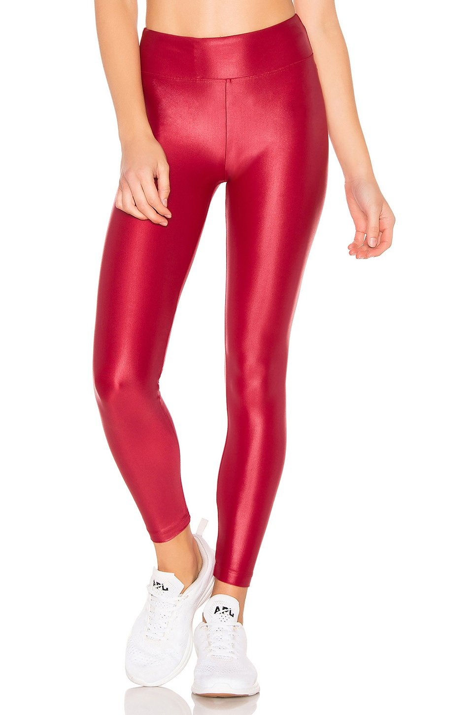 KORAL Lustrous High Rise Legging in Red