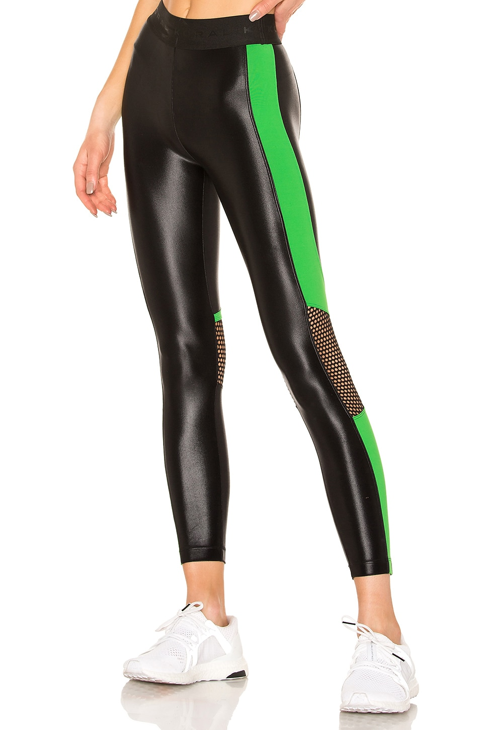 KORAL Emblem Infinity Cropped Legging in Black & Verde