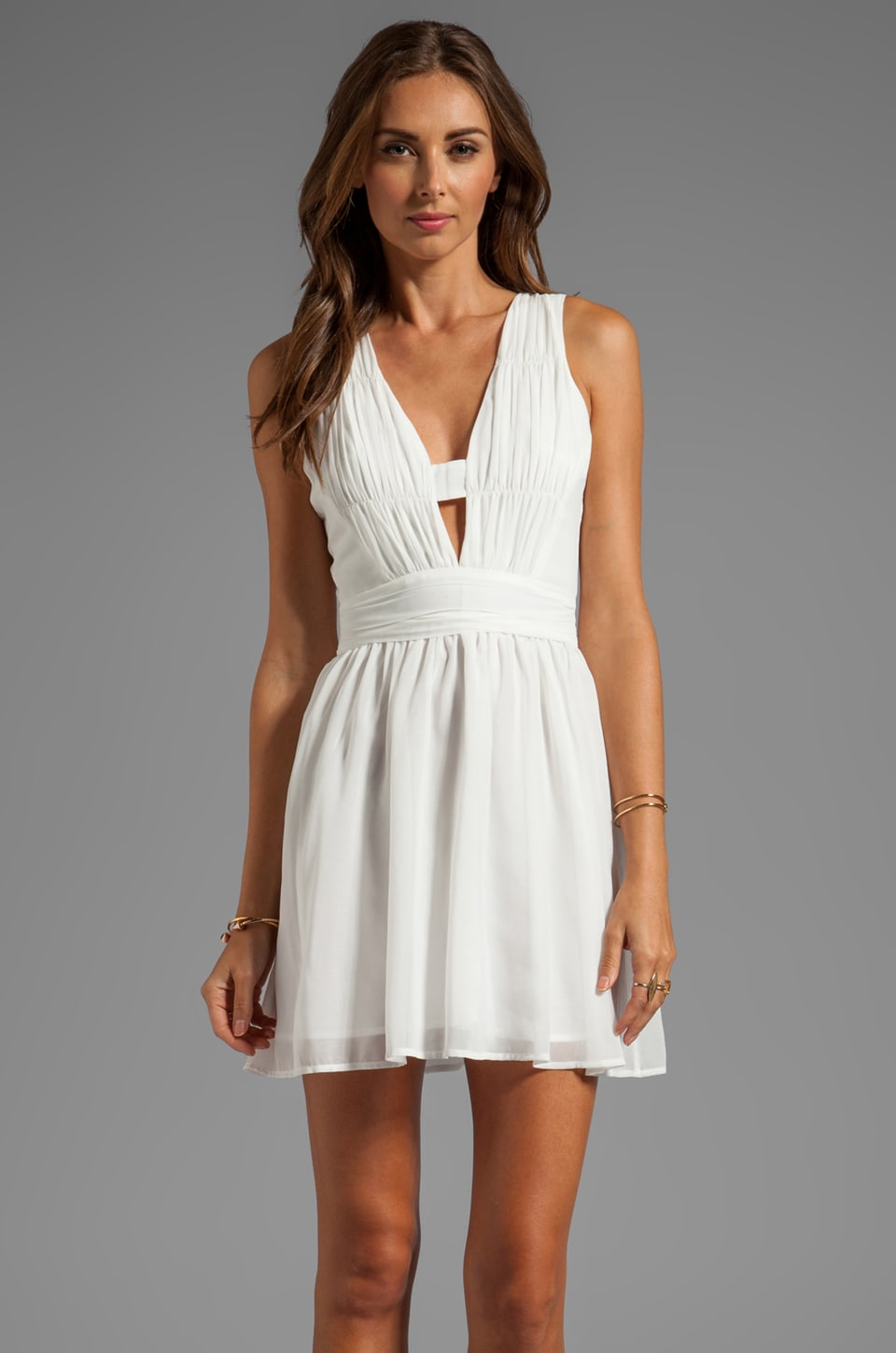keepsake Love Struck Mini Tank Dress in Ivory