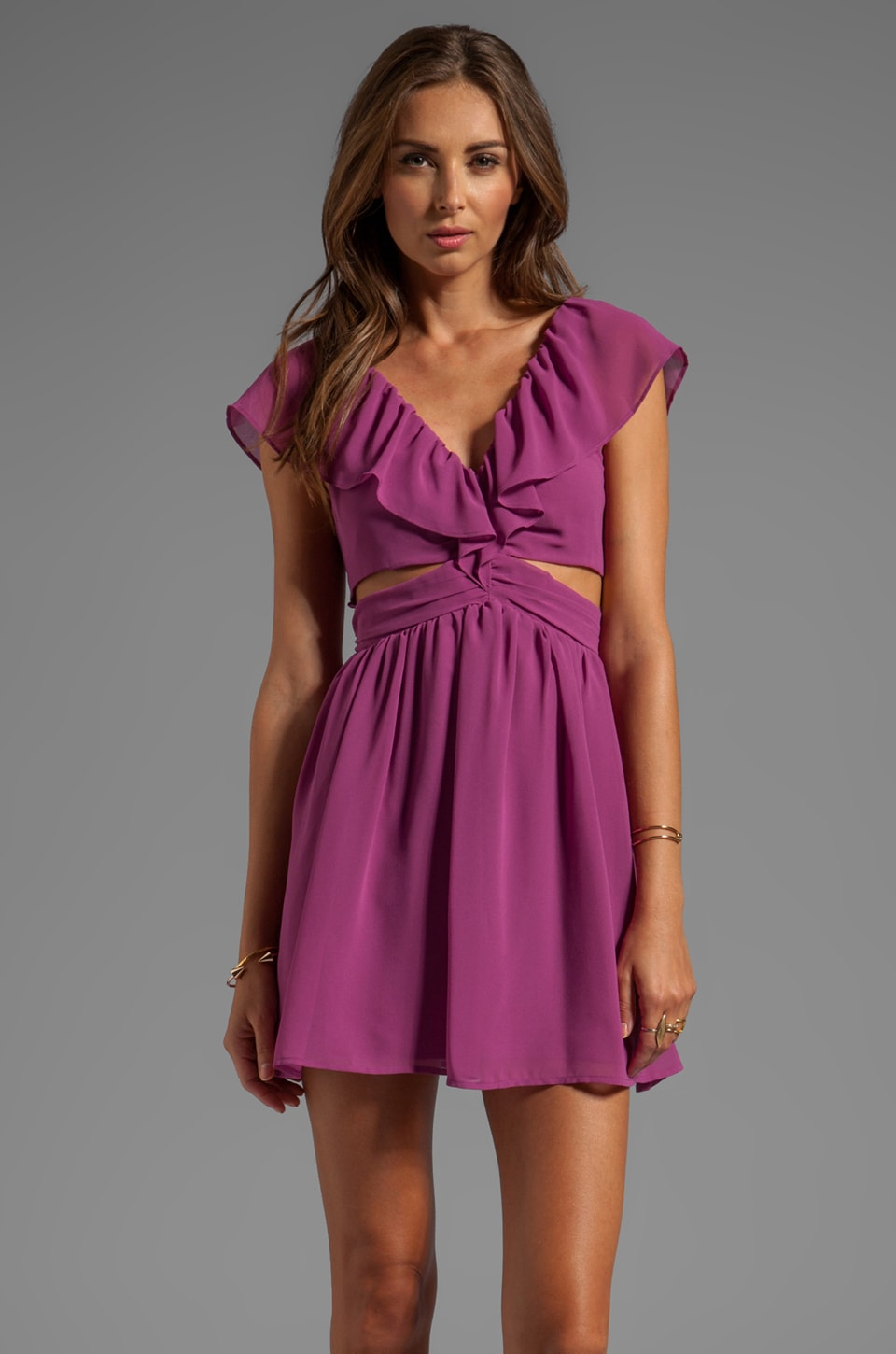 keepsake Lost Without You Dress in Boysenberry