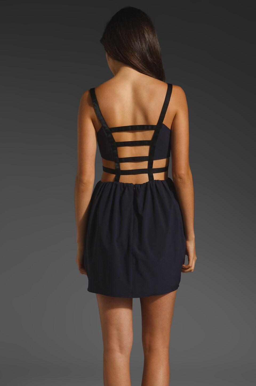 keepsake Secret Dancer Dress in Navy/Black