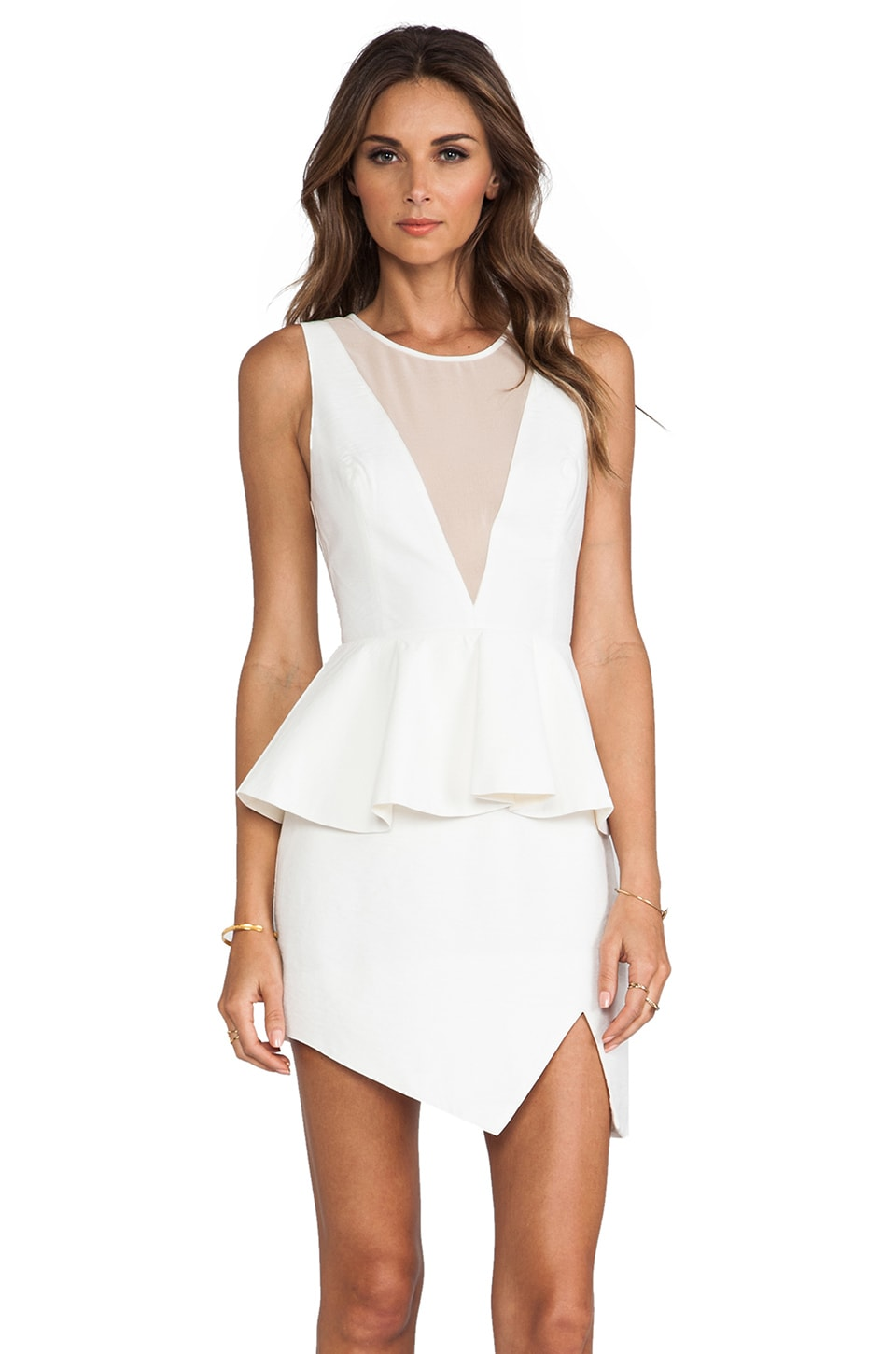 keepsake First in Line Dress in Ivory/Nude