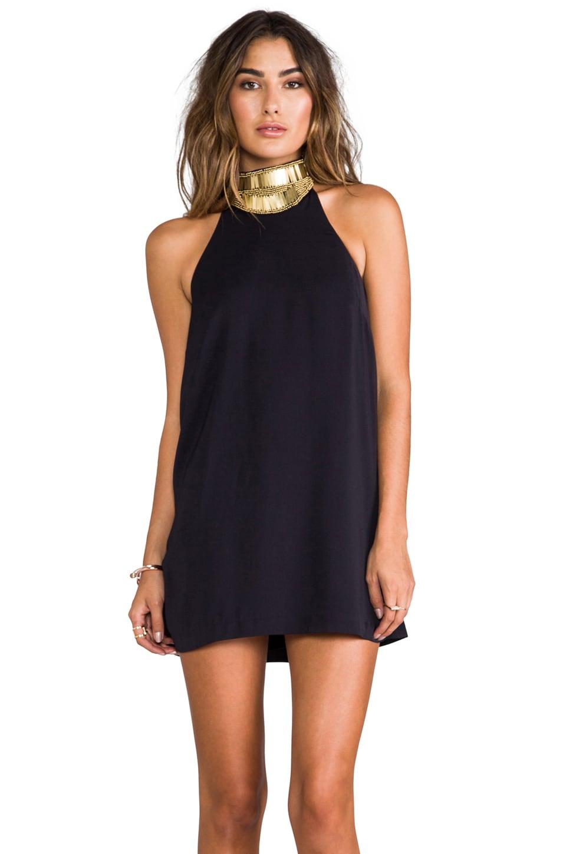 keepsake Modern Myth Mini Dress in Dark Navy/Gold