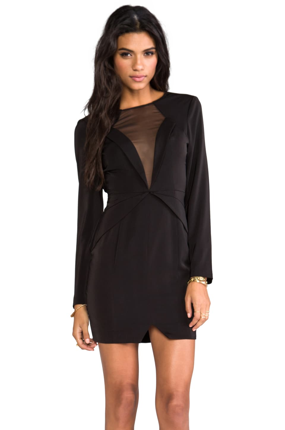 keepsake Lone Ranger Long Sleeve Dress in Black