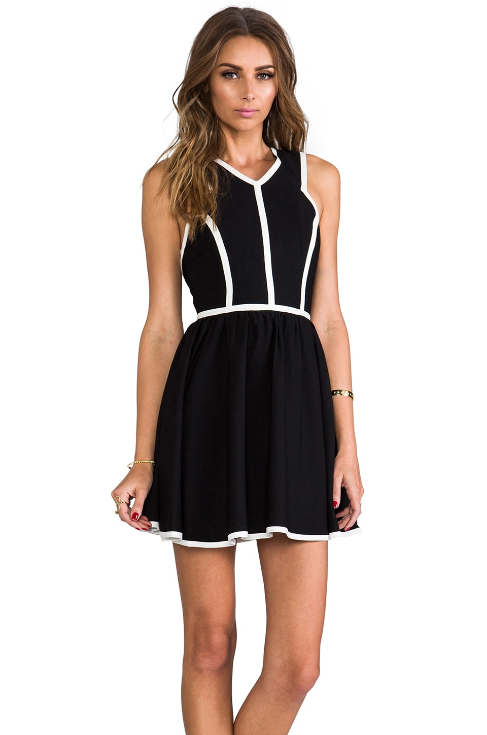 keepsake Flash Back Dress in Black/Ivory