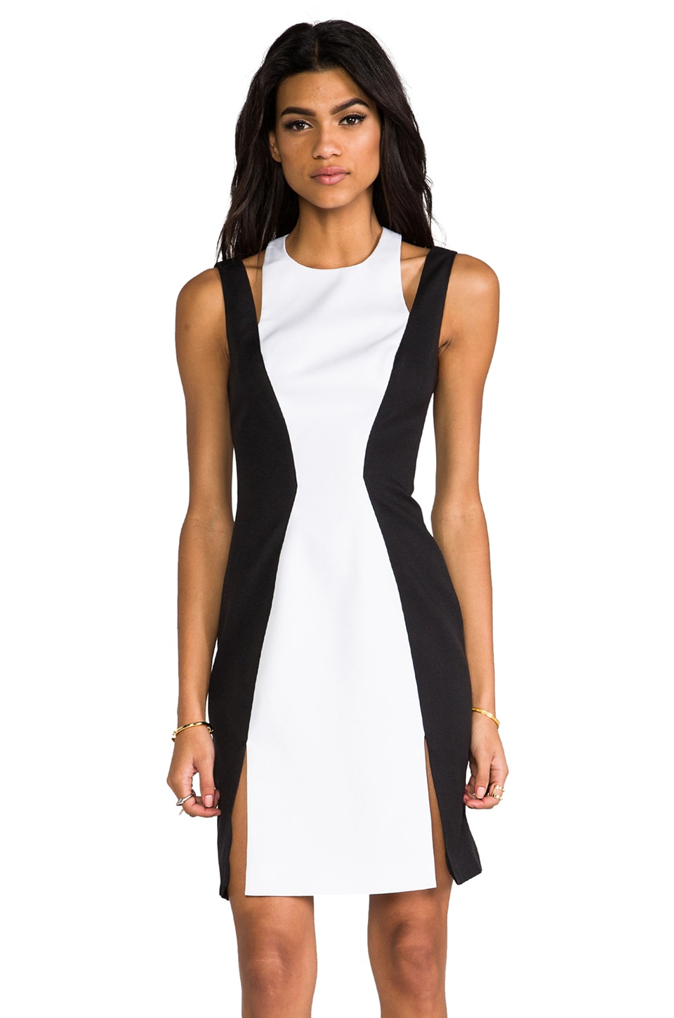 keepsake Don't Save Me Dress in Black & Ivory