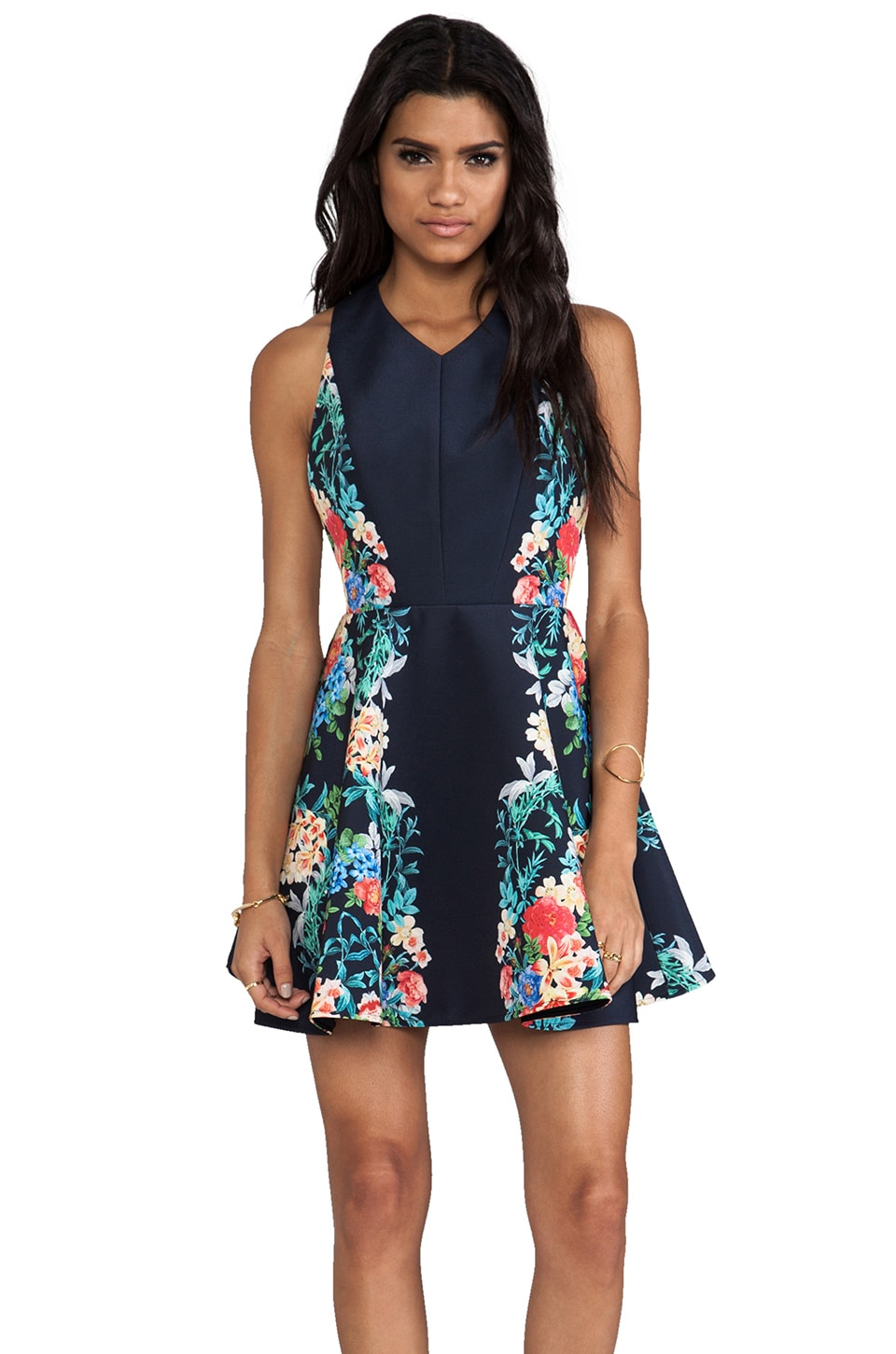 keepsake Second Chance Dress in Botanical Navy Print
