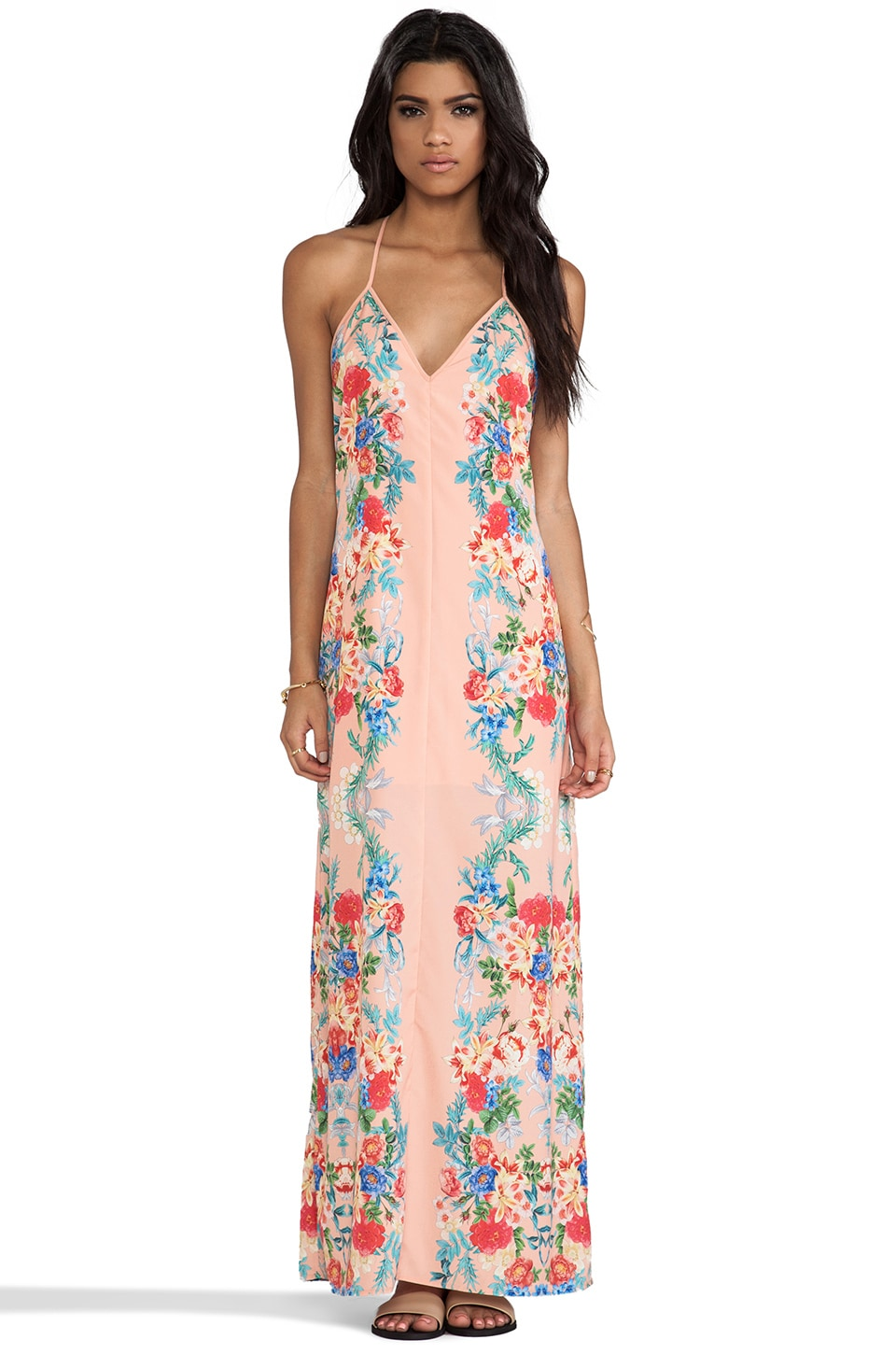 keepsake Botanic Maxi in Botanical Peach Print