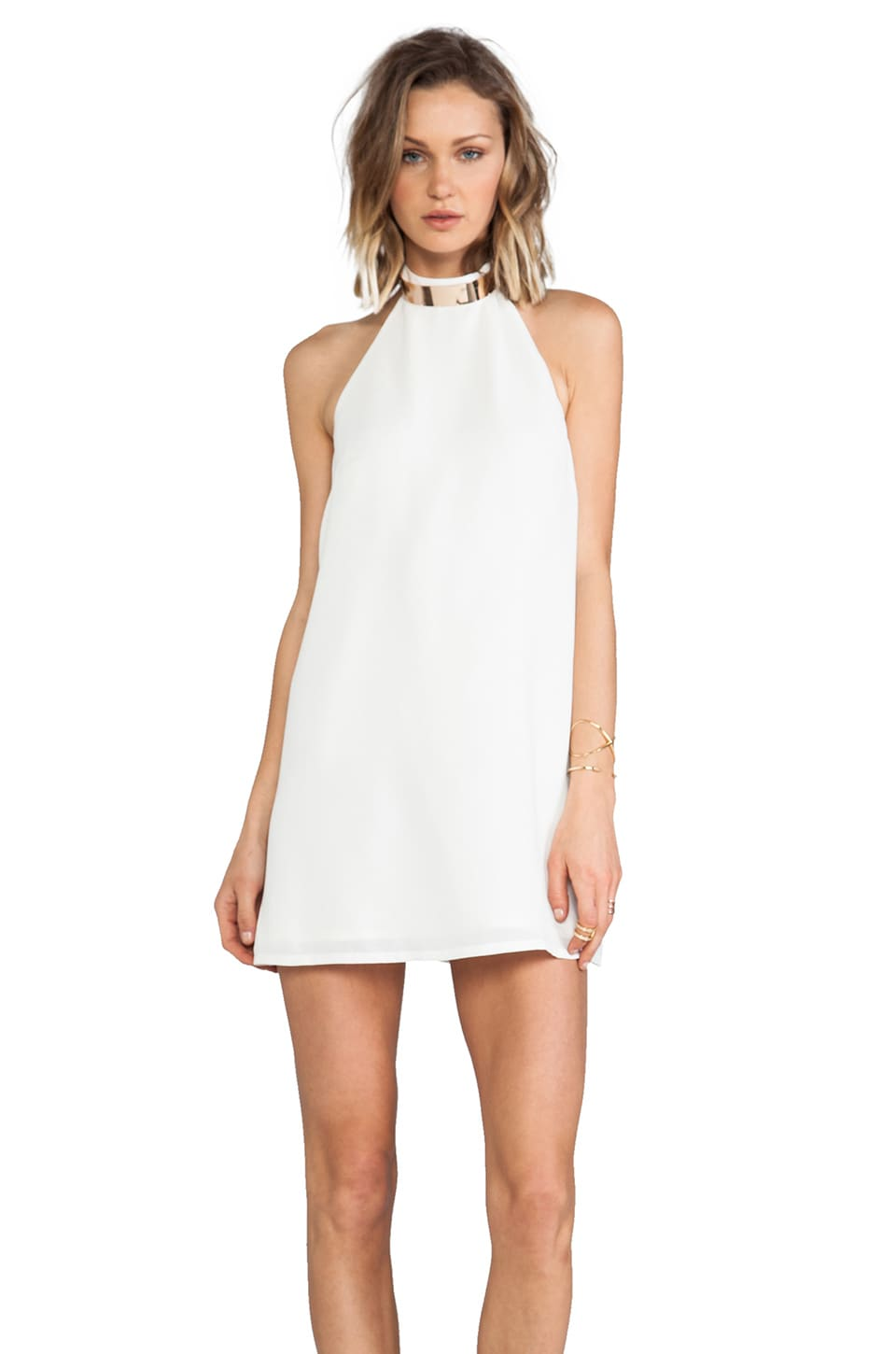 keepsake Reckless Mini Dress in Ivory