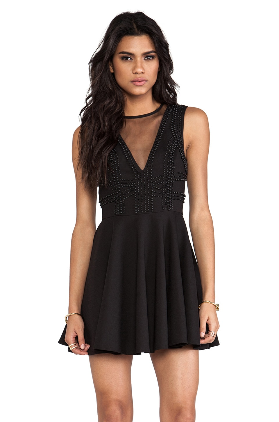 keepsake Secret Door Mini Dress in Black