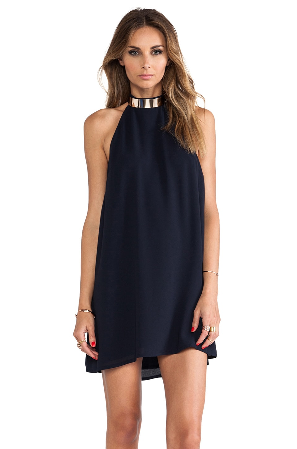 keepsake Reckless Mini Dress in Ink Blue