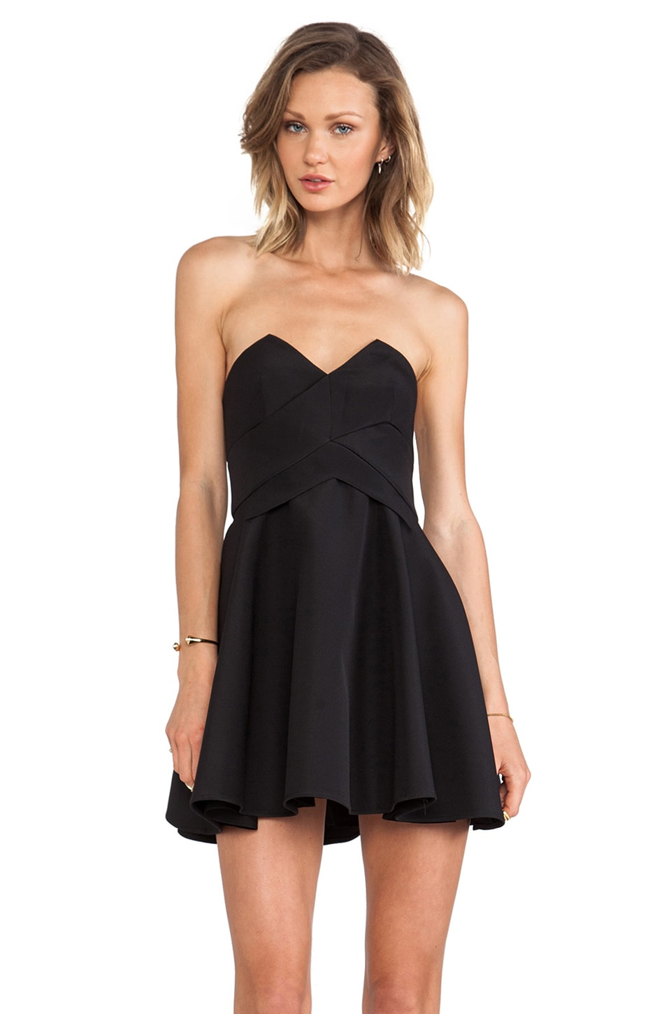 keepsake Three Dimensions Dress in Black