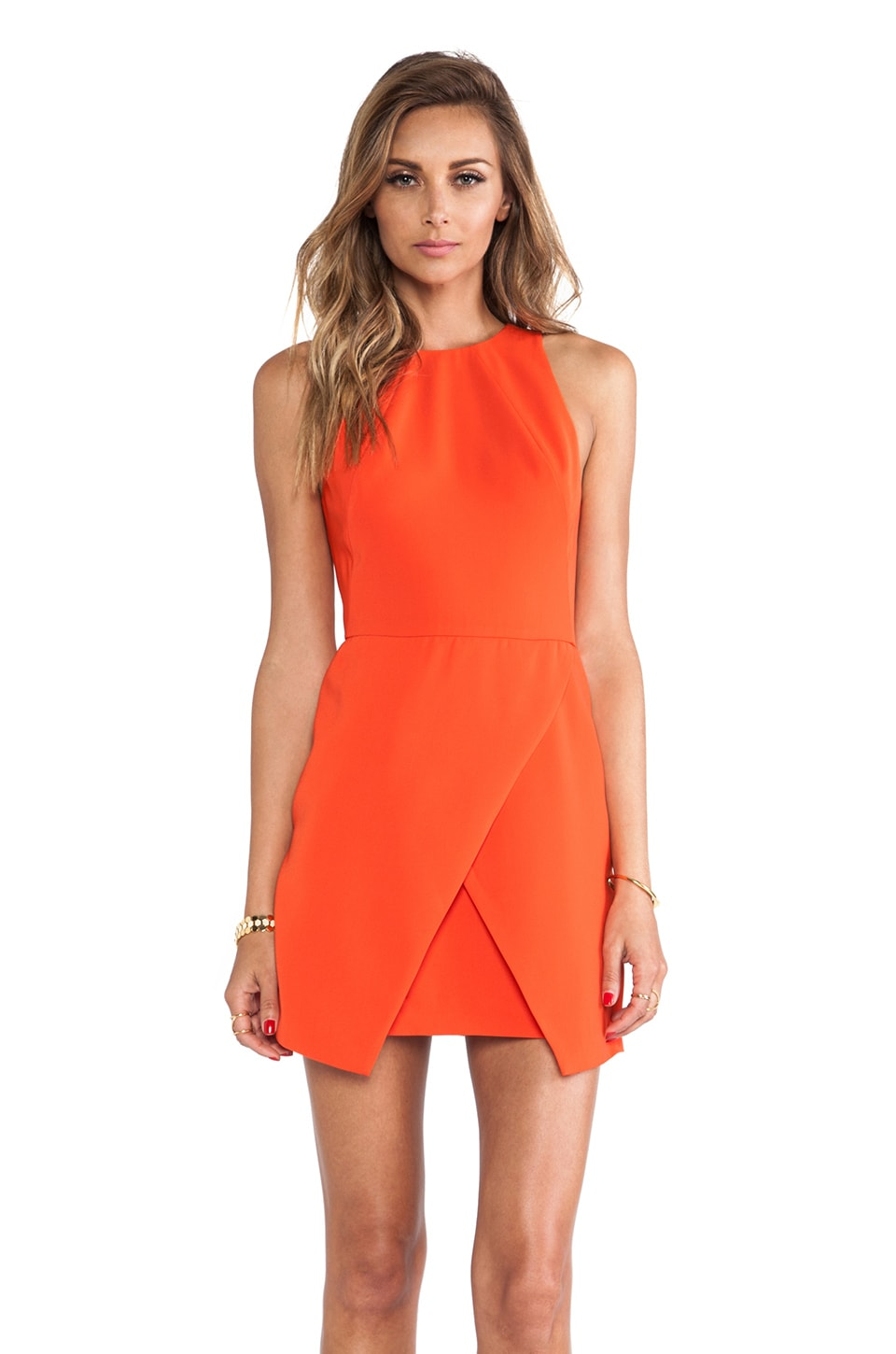 keepsake Such Great Heights Dress in Flame