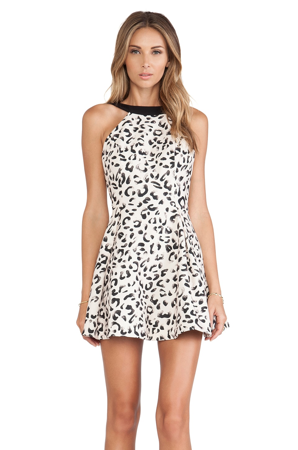 keepsake Take It All Mini Dress in Leopard Print