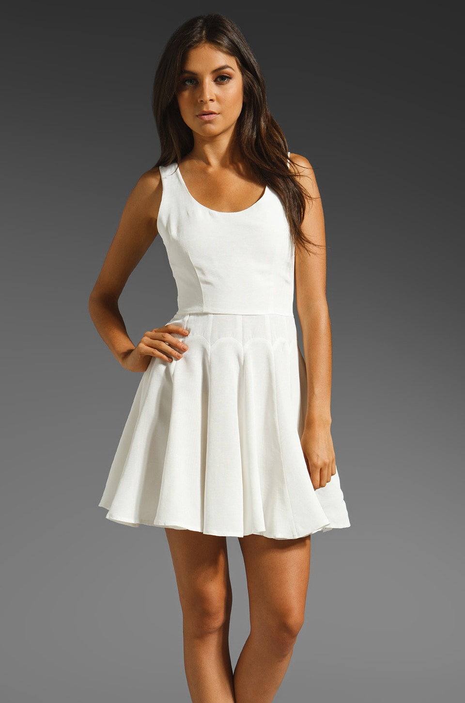 keepsake Constellation Dress in White
