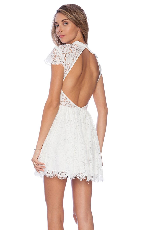 keepsake Eclipse Dress in Ivory