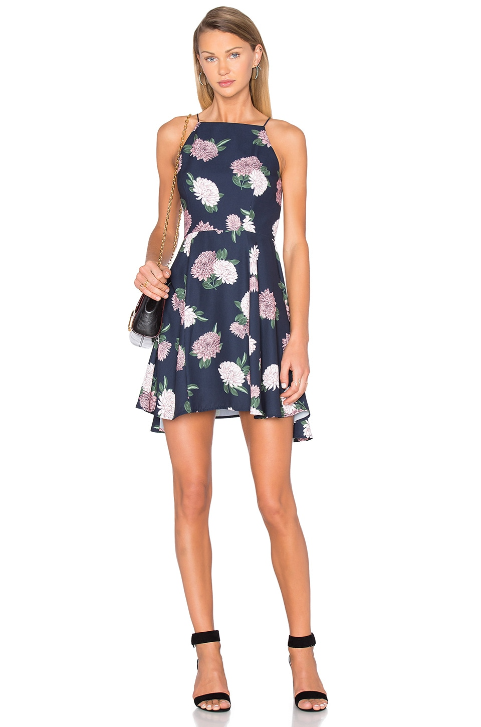 keepsake Up For Air Dress in Navy Floral