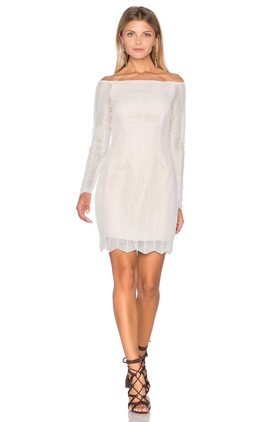 Think Twice Long Sleeve Lace Dress by Keepsake