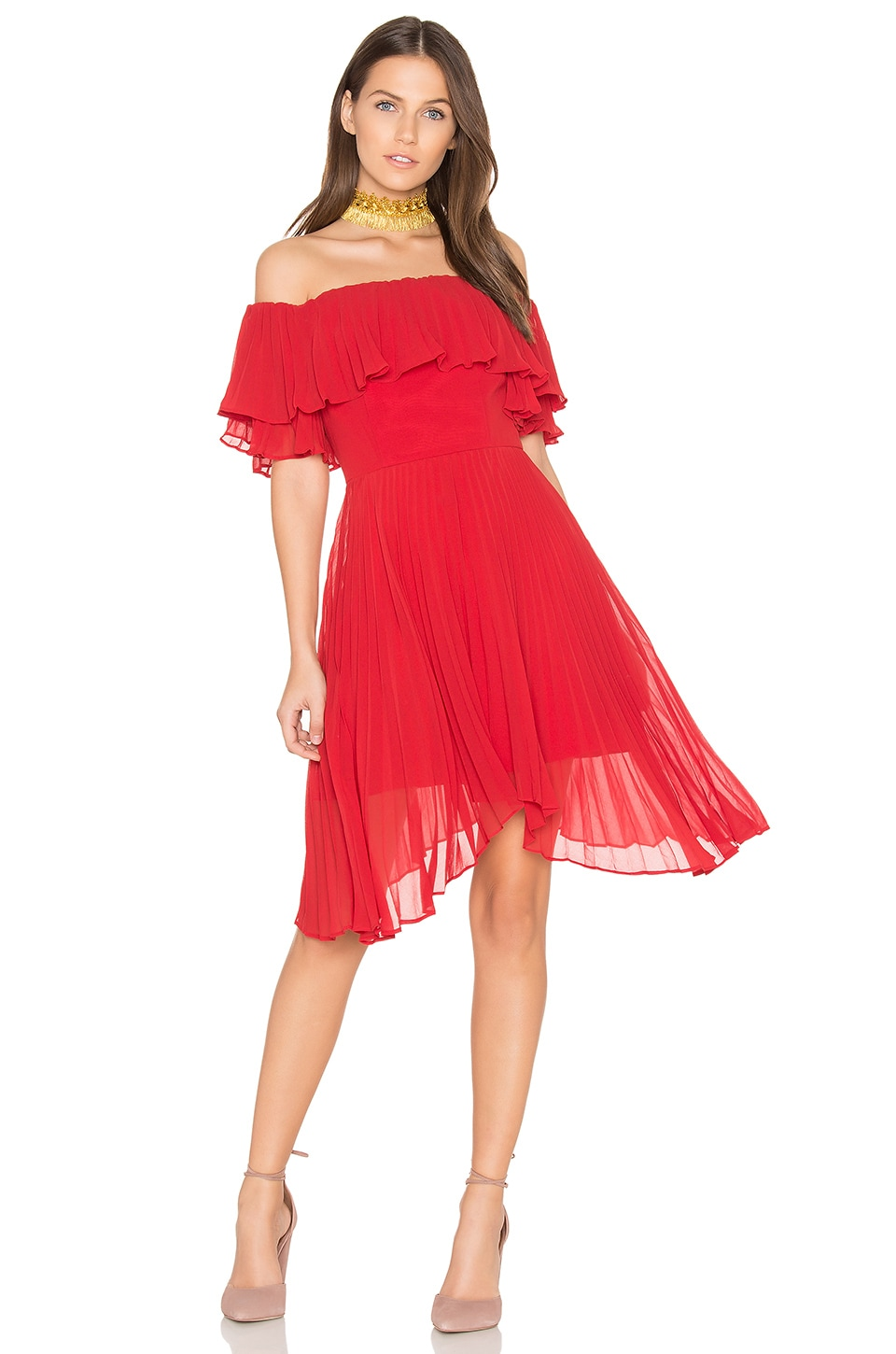Seasons Pleated Dress by keepsake
