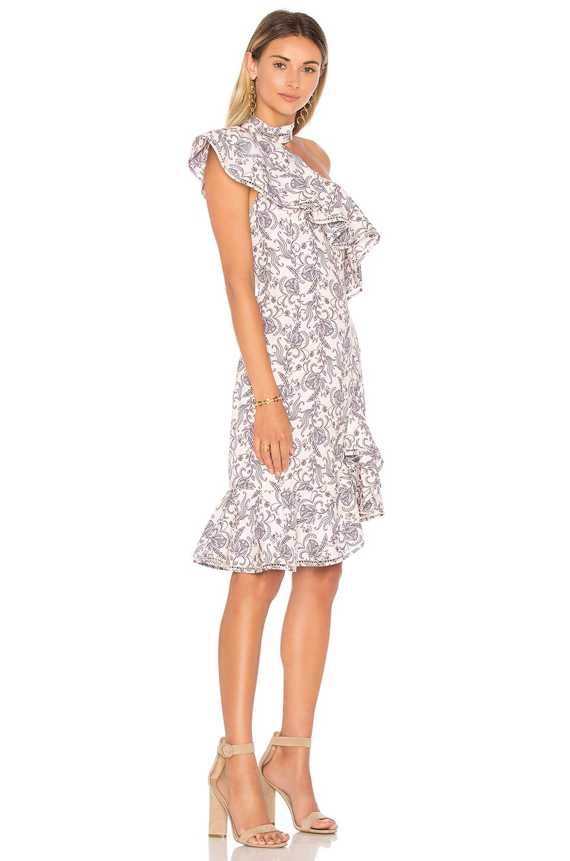 KEEPSAKE Lovers Holiday Mini Dress In Blush. in Wallpaper Floral
