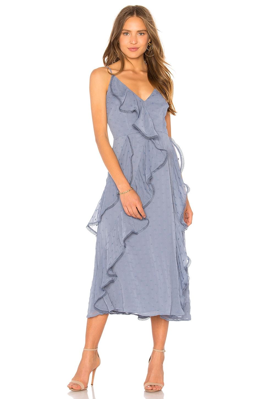 keepsake Hideaway Dress in Steel Blue