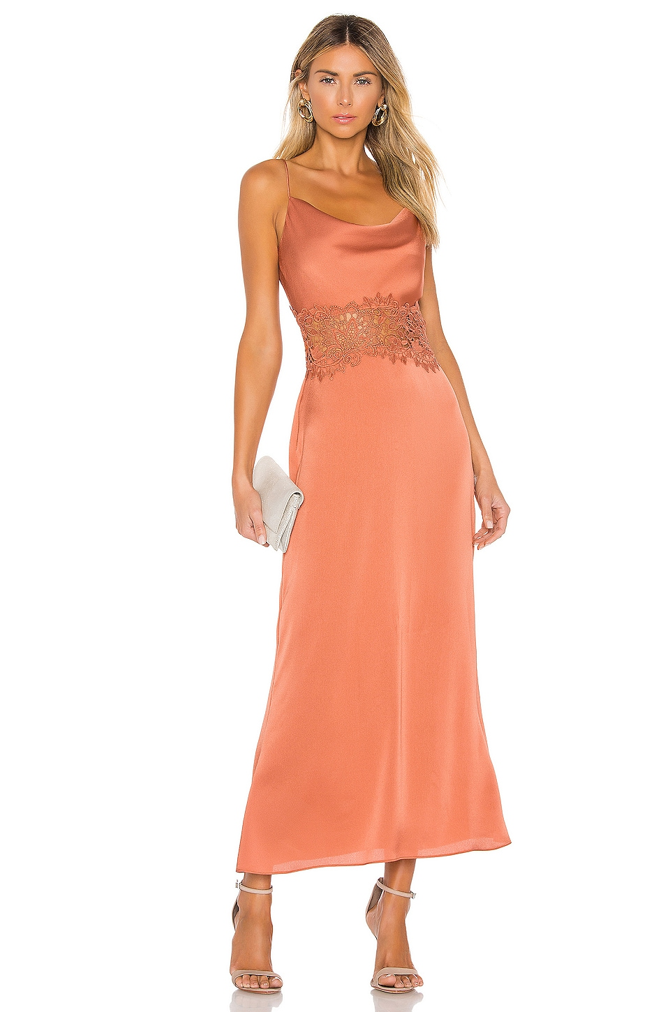 keepsake Vienna Dress in Burnt Orange