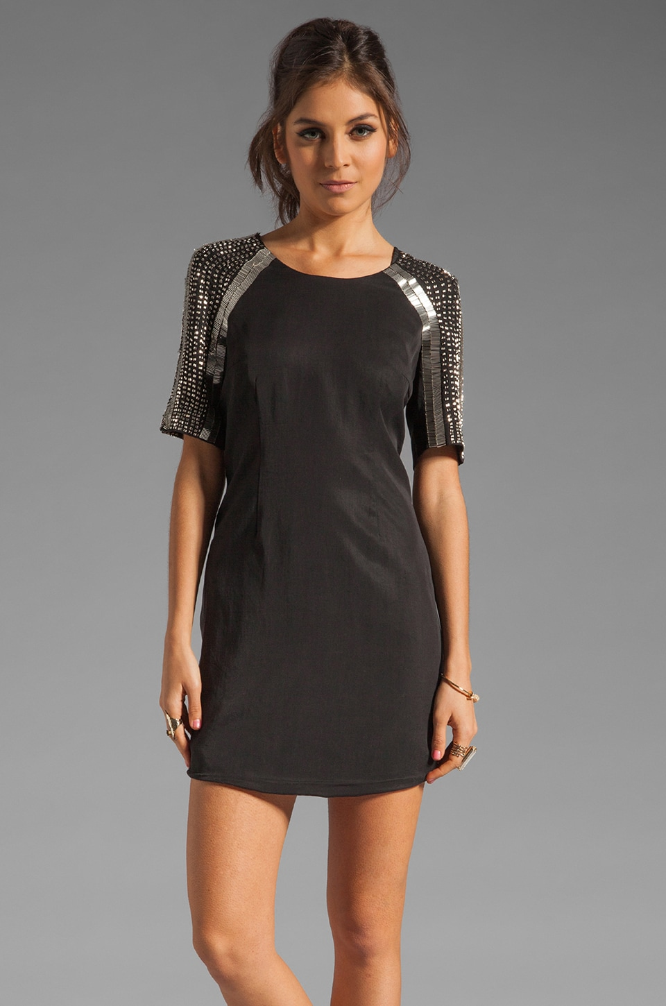 keepsake A Million Miles Away Dress in Black