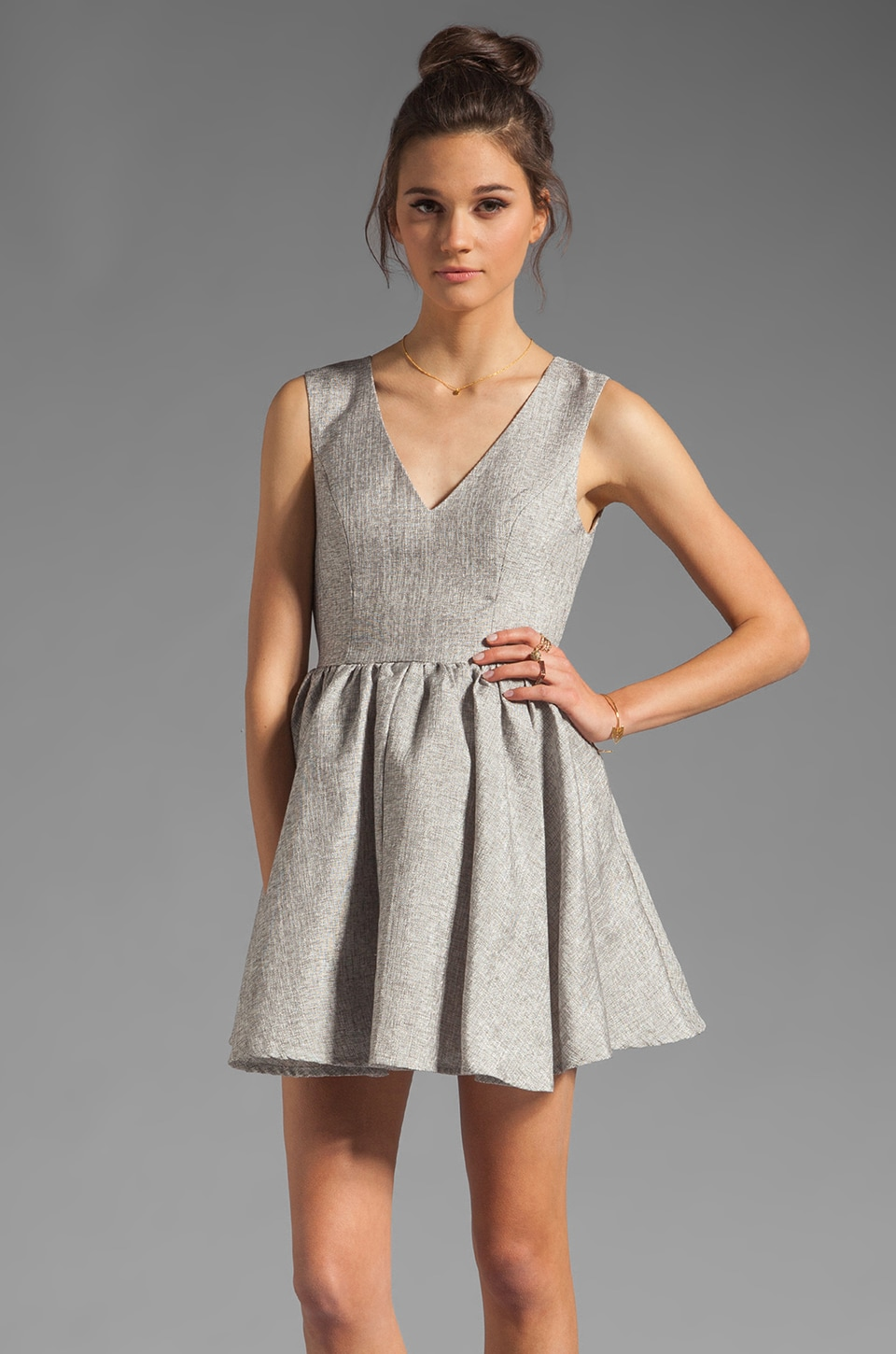 keepsake Jane Dress in Silver