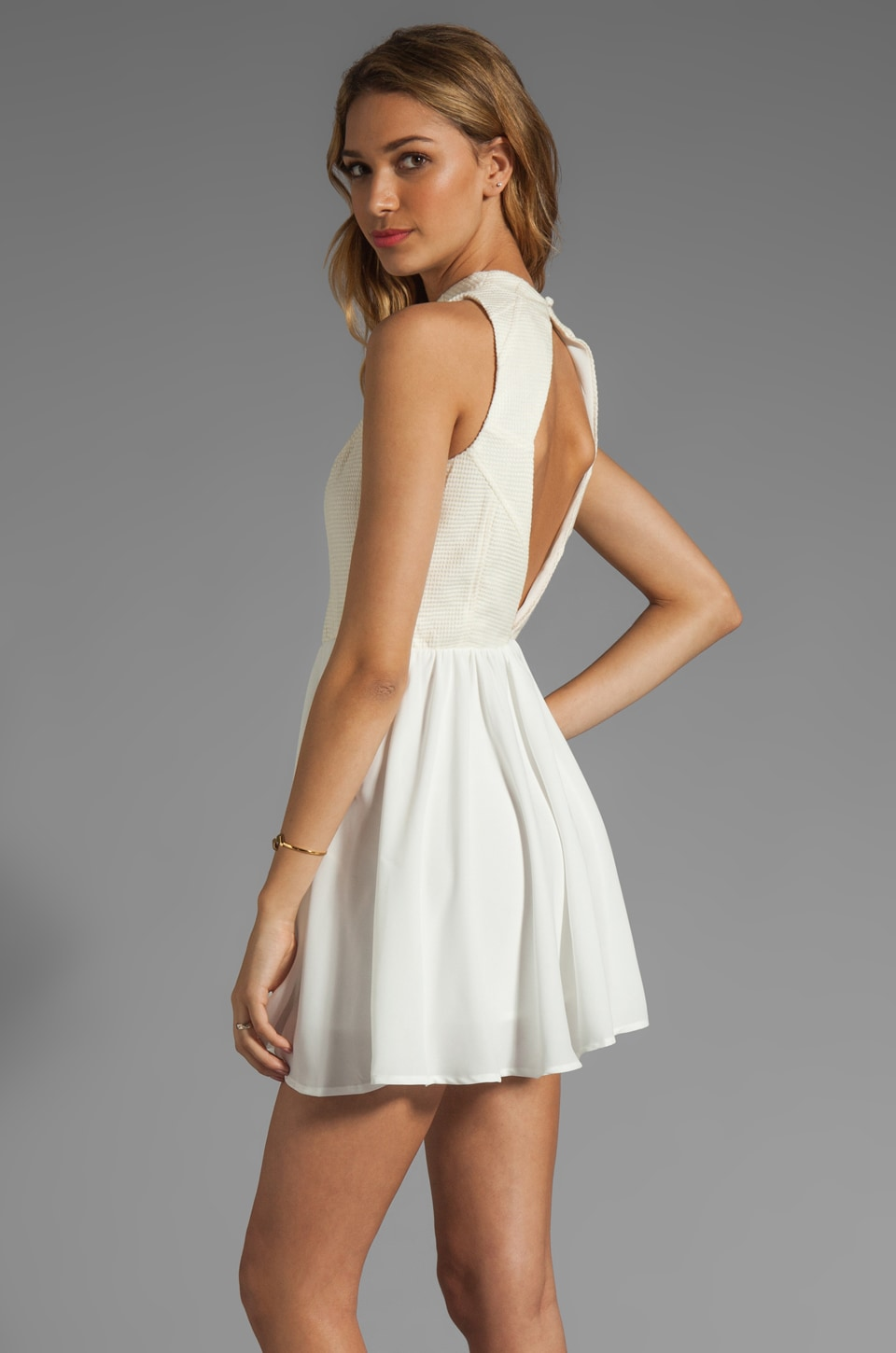 keepsake No Secrets Dress in Ivory/Ivory