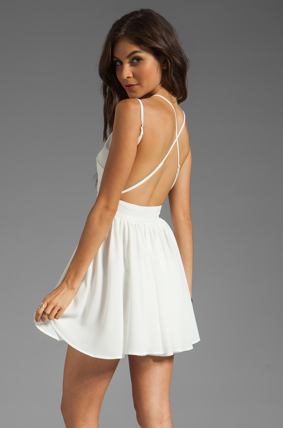 keepsake Wind in the Willows Dress in Ivory