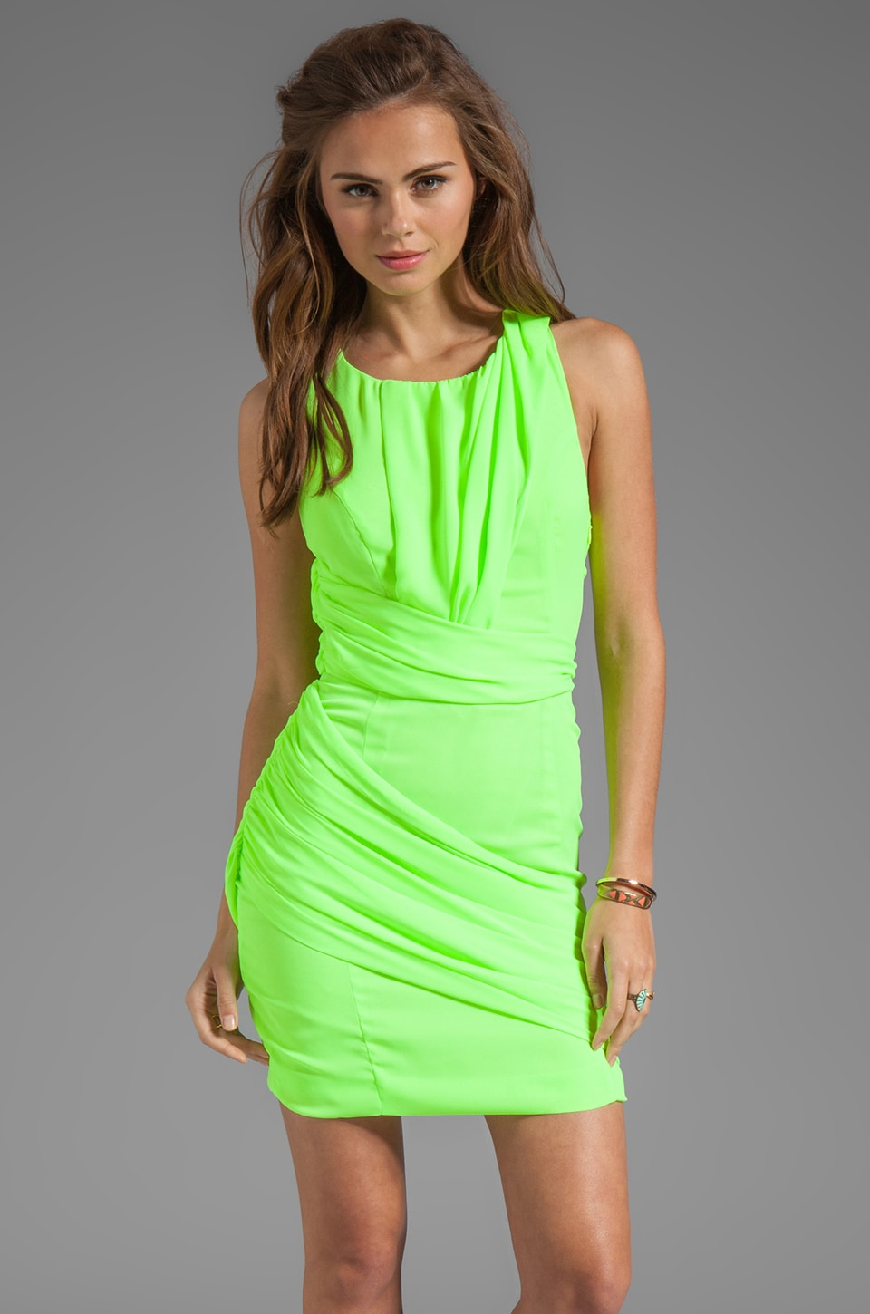 keepsake I Remember You Dress in Electric Lime