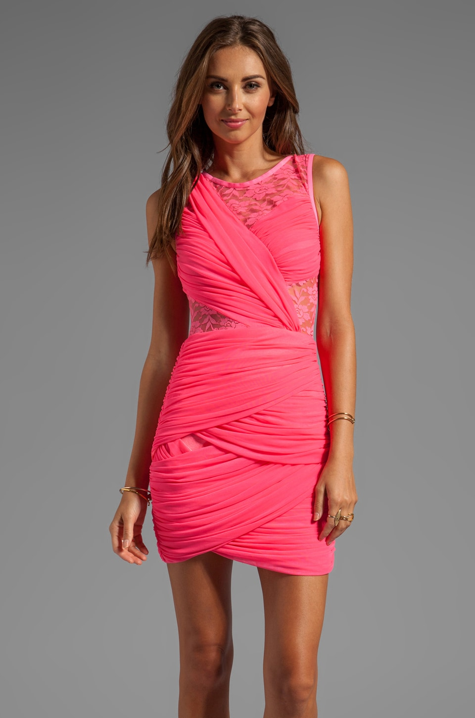 keepsake Just a Memory Tank Dress in Fluro Pink