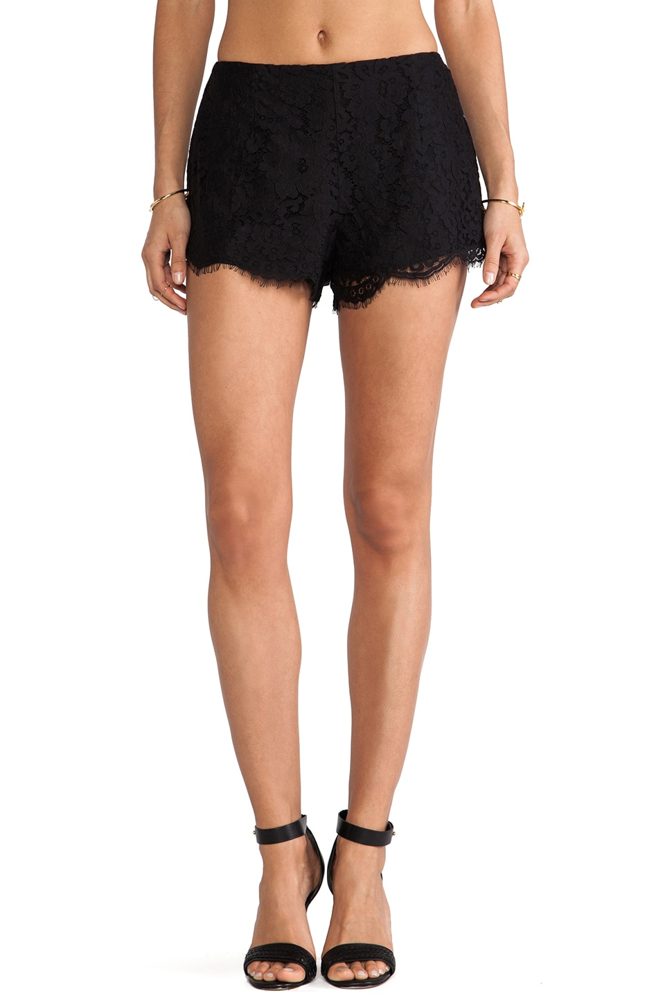keepsake Almost Over Short in Black Lace