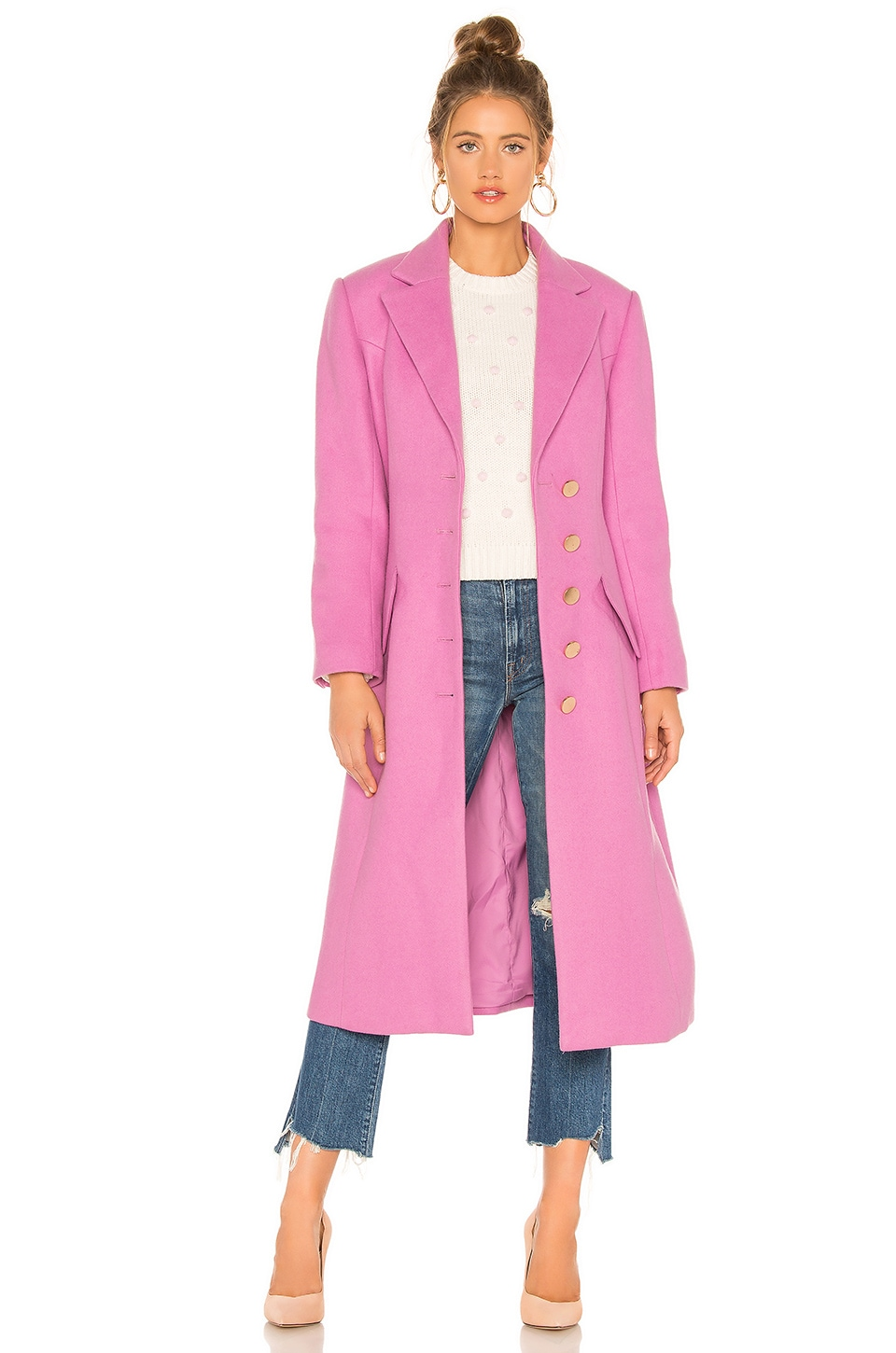keepsake Loving Feeling Coat in Lilac