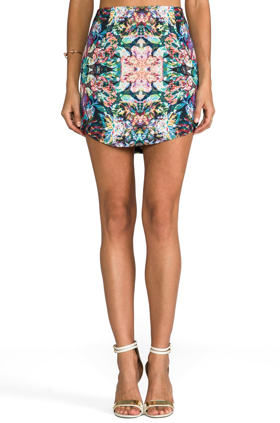keepsake Rebel Heart Skirt in Wild Flower Print