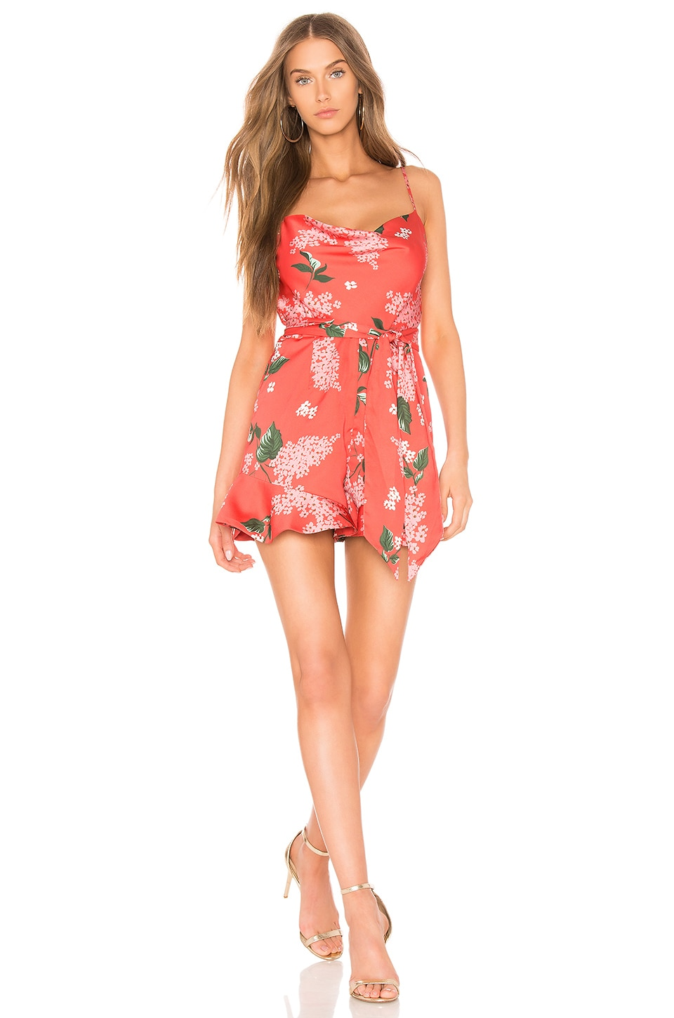 a22fa935e25 keepsake This Moment Romper in Pop Red Floral