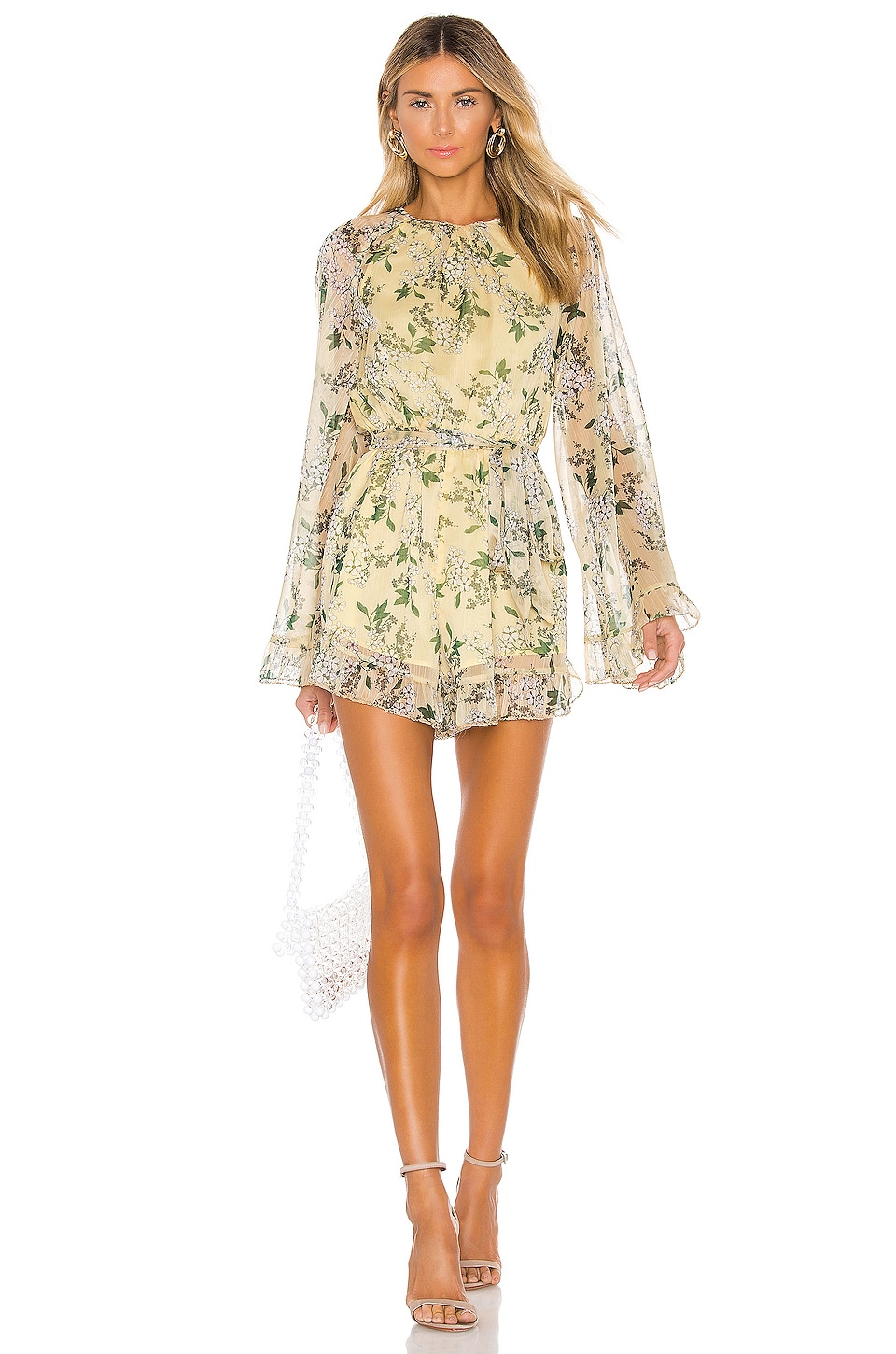 keepsake Luscious Romper in Lemon Floral