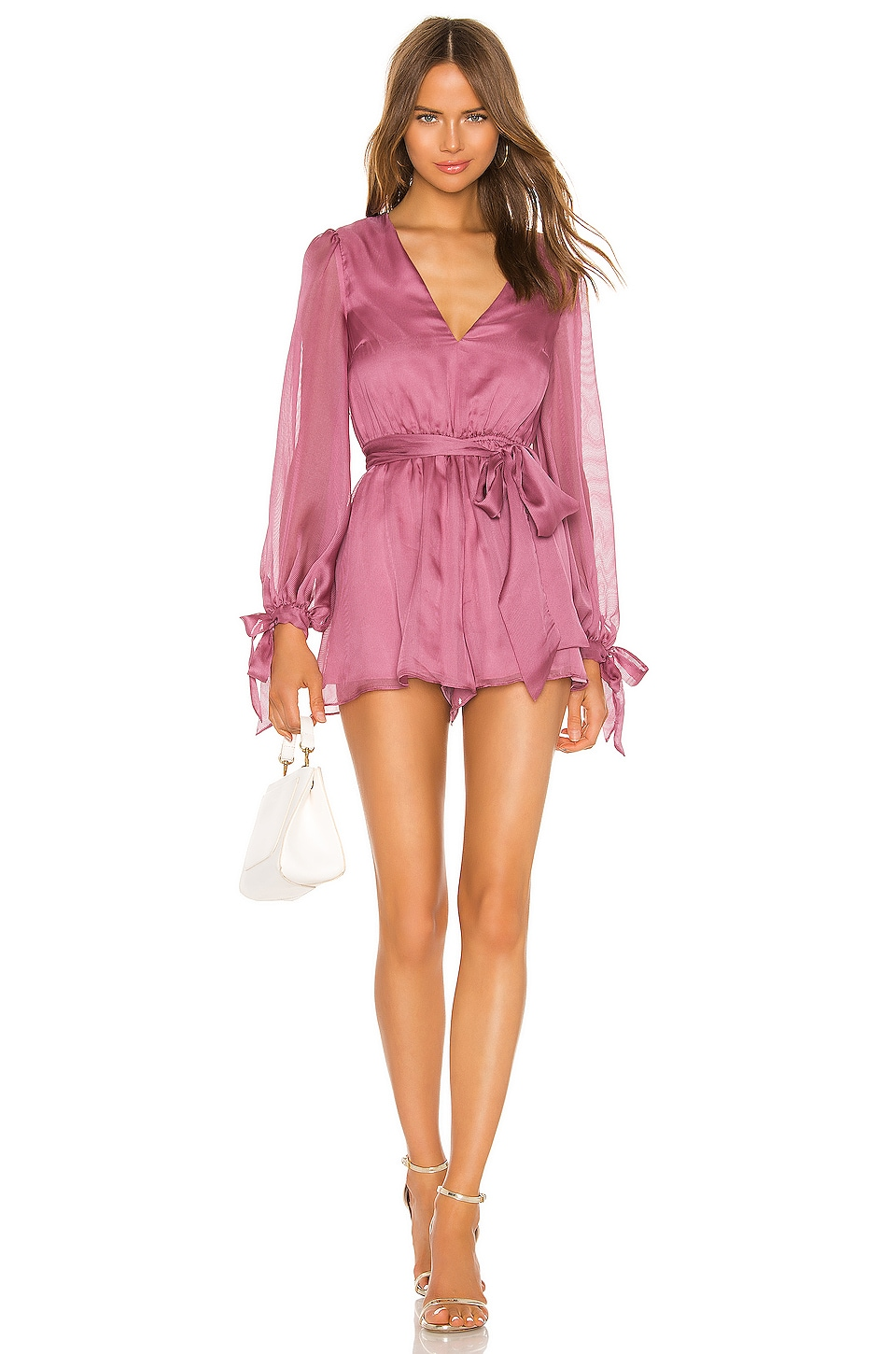 keepsake Cheshire Romper in Mulberry