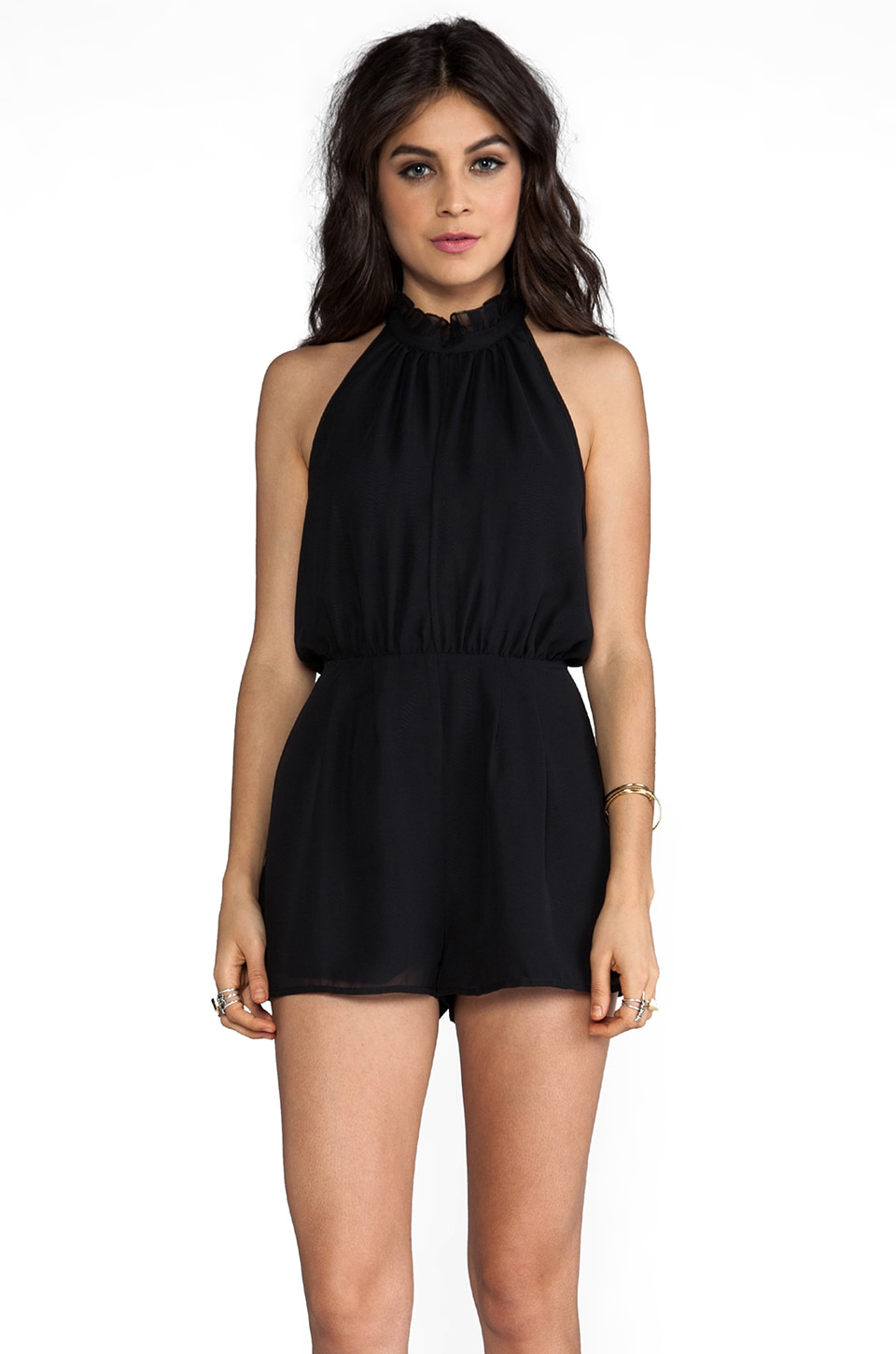keepsake Stephanie Playsuit in Black