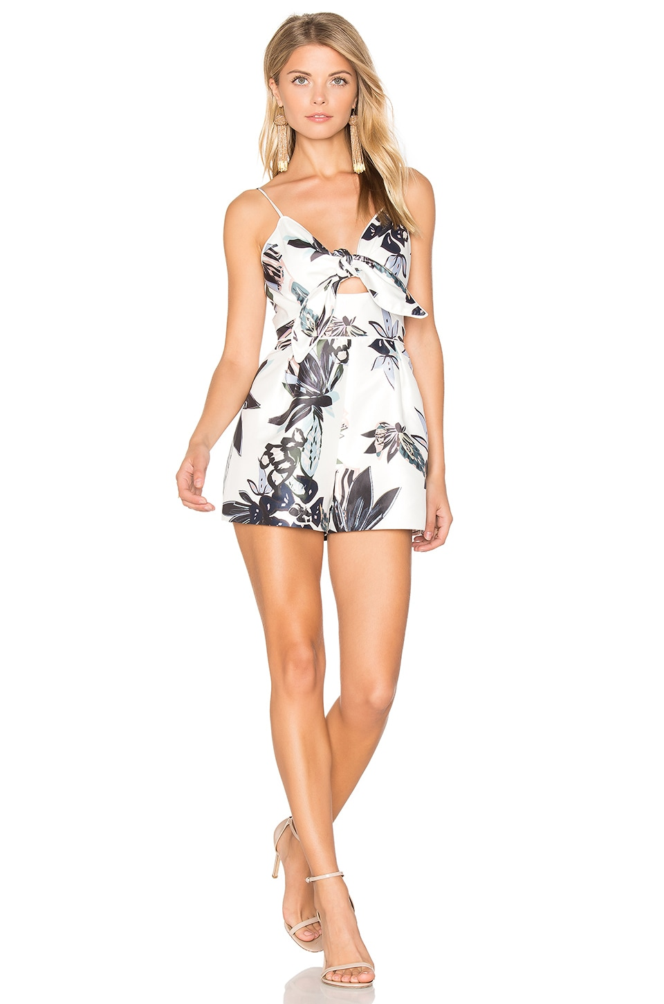keepsake Coming Home Romper in Abstract Floral Print