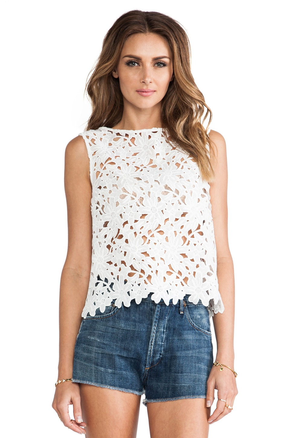 keepsake Reach for the Sun Top in Ivory Lace