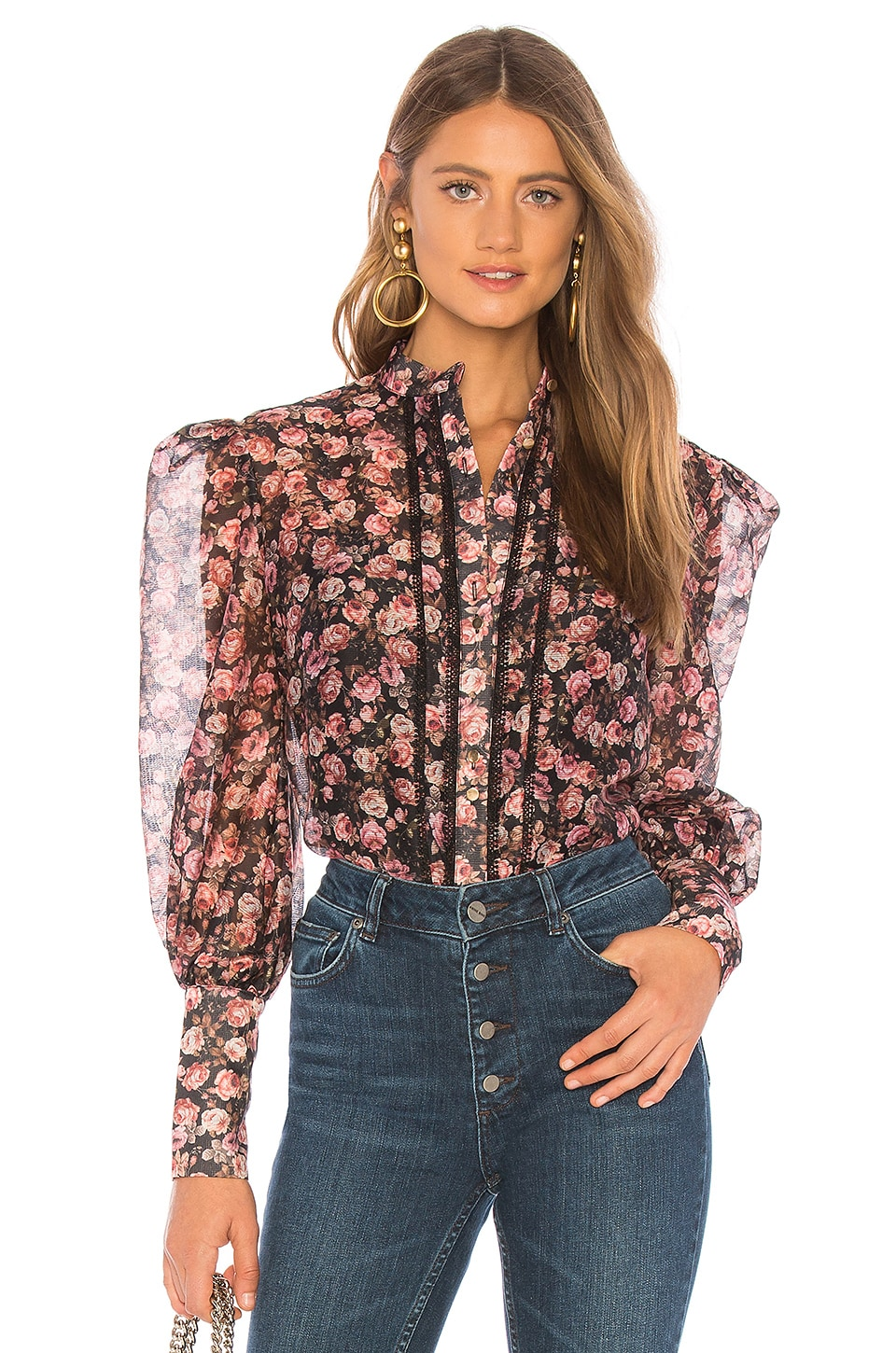 keepsake One Love Top en Black Rose Floral