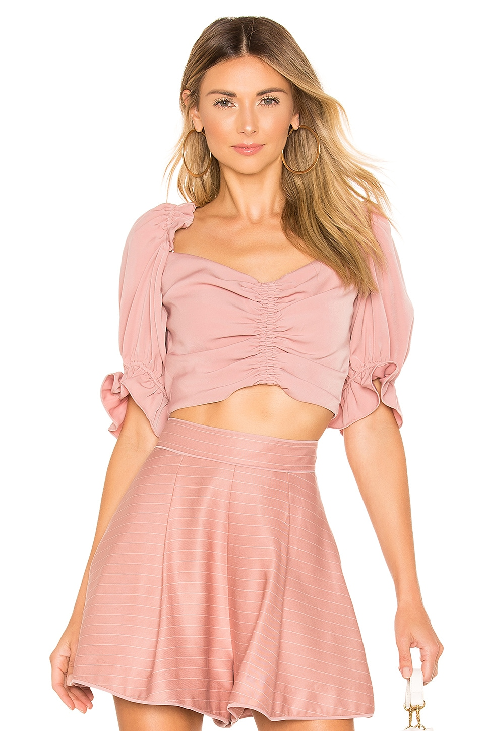 keepsake Daybreak Top en Dusty Pink