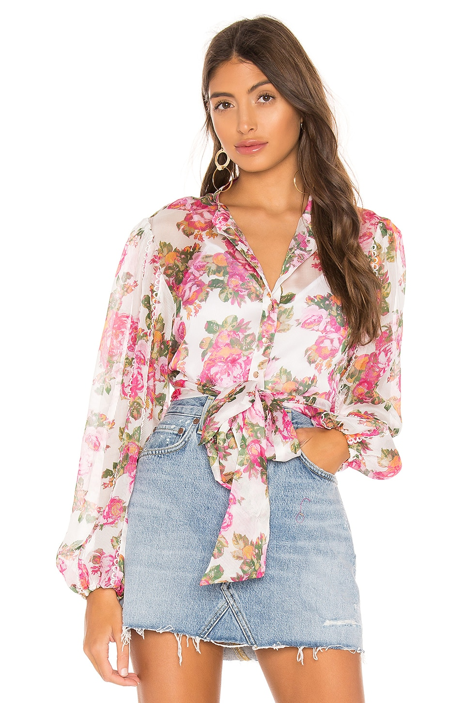 keepsake Oblivion Top in Ivory Rose Floral