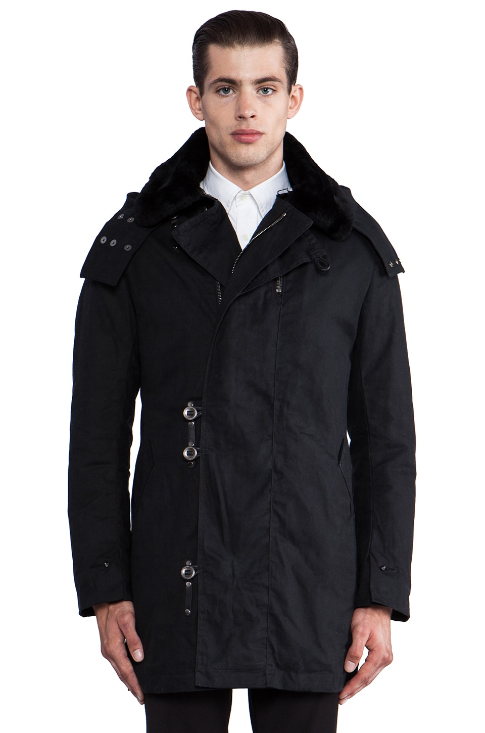 KRANE Jonas Officer's Coat in Black