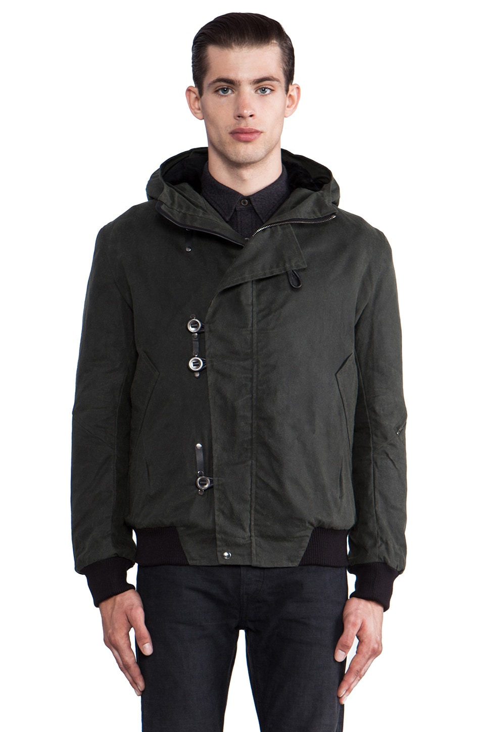 KRANE Emory Hooded Bomber in Olive